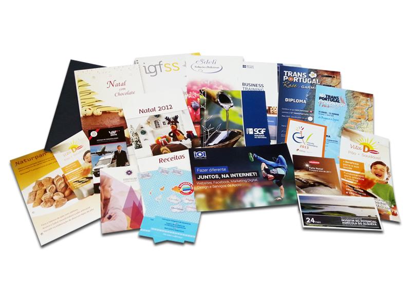 Folhetos e Brochuras
